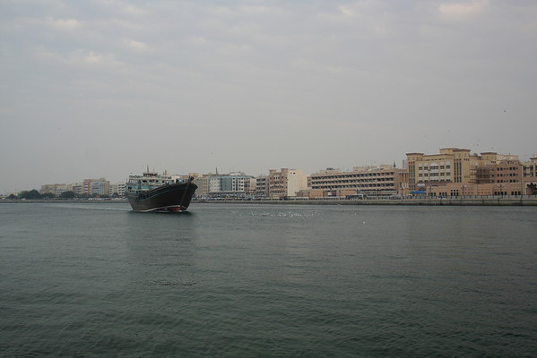 Dubai creek and Deira viewed from Bur Dubai