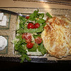 Shibolim bakery breakfast: Bulgari cheese, soft cream cheese, Israeli salad, omlette