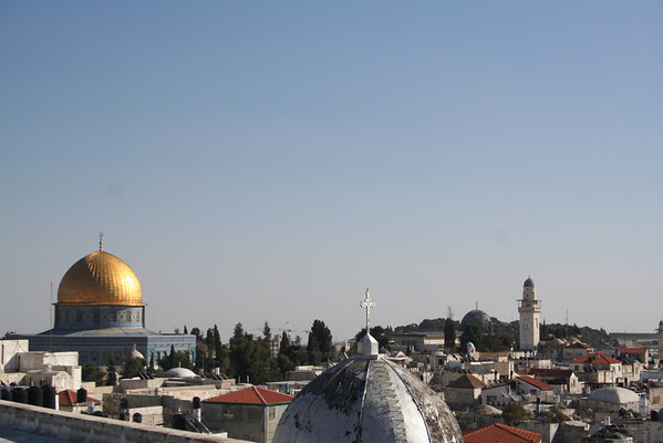 View from the terrace of the Austrian hospice in Jerusalem